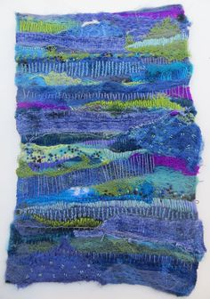 Dreaming Lake Como original fiber art by janeville on Etsy