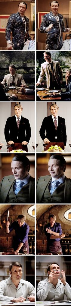 Hannibal Lecter vs. Mads Mikkelsen. Source: mikkelsenmads.tumblr I just LOVE how powerful a smile can be. I mean it makes him an adorable puppy even in a killersuit. :D