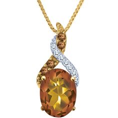 We think this citrine and diamonds gold pendant would really make the custard in  the floral dress POP!