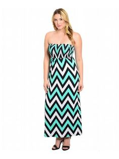Mint Striped Maxi Dress