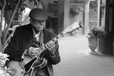 """(Disneyland Sept. 28, 2011) I took this photo of Ernest """"Ernie"""" McLean 5 months before his death. He is a Disneyland legend and amazing musician. Ernie was the last employee to be personally hired by Walt Disney and worked in the park nearly every day since 1966. New Orleans Square will never be the same."""