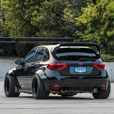 This is a black car Subaru Tuning, Subaru Cars, Car Tuning, Subaru Wrx Hatchback, Subaru Impreza, Tuner Cars, Jdm Cars, Bugatti, Japan Cars
