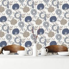 "Found it at Wayfair - Wall Vision 33' x 20.9"" Valda Modern Floral Wallpaper"