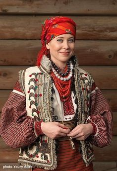Hutsul outfit, Ukrainian folk.