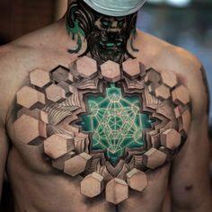 Wicked Tattoos, Badass Tattoos, Cool Tattoos, Waist Tattoos, Hand Tattoos, Sleeve Tattoos, Chest Piece Tattoos, Pieces Tattoo, Amazing 3d Tattoos