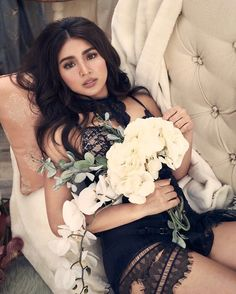 Luster by Nadine Lustre (ctto) Debut Photoshoot, Photoshoot Themes, Photoshoot Inspiration, Nadine Lustre Fashion, Nadine Lustre Makeup, Nadz Lustre, Debut Gowns, Celebs, Celebrities