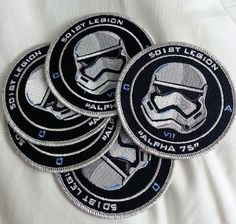 Some patches I designed for the 501st Legion's new First Order Stormtroopers.