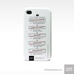 Think Dirty Toxic Shampoo Ingredients iPhone Case by ThinkDirty, $38.00