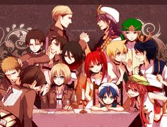 Shingeki no Kyojin x Magi: The Labyrinth of Magic