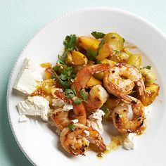 Seared Shrimp with Peach Chutney