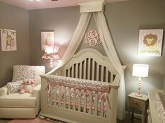 Bed Crown Canopy, Crib Crown, Nursery Design, Wall Decor, Shabby Chic Bed Crown Canopy Crib Crown Nursery Design by ACreativeCottage Baby Bedroom, Baby Room Decor, Nursery Room, Girls Bedroom, Nursery Decor, Bedroom Wall, Chic Nursery, Nursery Themes, Baby Girl Rooms
