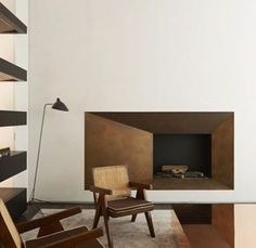 Burnished Copper Fireplace