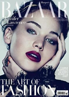 COVER  Page not found | Harpers Bazaar  Highlight Description Jennifer Lawrence for Harpers Bazaar November issue cover
