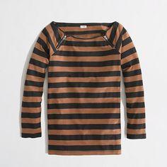 J.Crew Factory - Factory vintage cotton zipper top in stripe
