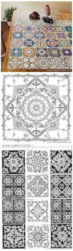 Transcendent Crochet a Solid Granny Square Ideas. Inconceivable Crochet a Solid Granny Square Ideas. Crochet Motifs, Crochet Blocks, Crochet Diagram, Crochet Chart, Crochet Squares, Thread Crochet, Crochet Granny, Crochet Doilies, Crochet Flowers