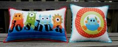 This pattern allows for you to design the pillow with your child's name - such a great idea!
