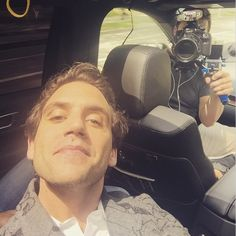 """mikainstagram """"With @Myspace crew in LA on route to Access Hollywood and then sound check"""" May 2015"""