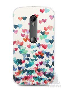 Capa Moto G3 Corações Coloridos - SmartCases - Acessórios para celulares e tablets :)