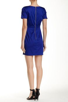 French Connection Richie Short Sleeve Fit & Flare Dress