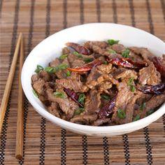 Spicy Hunan Beef with Cumin.