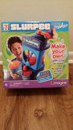 New Slurpee 7 11 Drink Maker Slushie Frozen Drinks Umagine Spin Master Machine 7 Eleven Slurpee, Frozen Drinks, Slushies, Spin, Make Your Own, Ebay, Cold Drinks