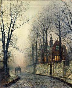 John Atkinson Grimshaw - November Moonlight