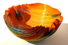 """Mary Ann) Toots Zynsky """"When I hear music, it translates into color."""" Her distinctive heat-formed filet de verre (glass thread) vessels enjoy a widespread popularity and deserved acclaim for their often extraordinary and always unique explorations in color. Defying categorization, her pieces inhabit a region all their own, interweaving the traditions of painting, sculpture, and the decorative arts."""