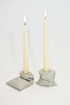 Kappa concrete candleholder by LJ Lamps made in Germanyop CROWDYHOUSE