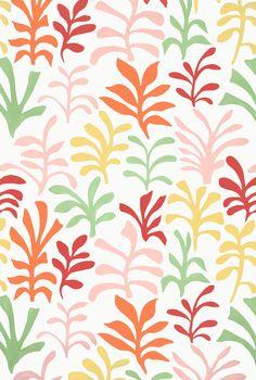 Ode to Matisse in Punch, 174950. http://www.fschumacher.com/search/ProductDetail.aspx?sku=174950 #Schumacher #luludk