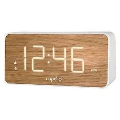 "Capello Alarm Clock Extra Large 1.8"" White LED Display : Target"