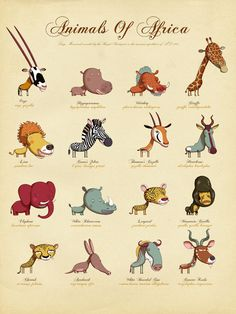UK-based illustrator Andy Ward created this Natural History poster series as a way for kids—and everyone—to learn about the animals of the world. Leo the Lion was originally developed for a children's book, but the little guy was set aside and sat on a shelf for almost ten year..