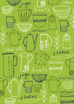 kitchen surface pattern - Sally Payne 2014