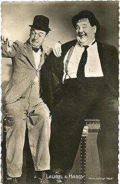 Laurel and Hardy Stan Laurel made his stage debut at the Britannia Panopticon Laurel And Hardy, Stan Laurel Oliver Hardy, Star Hollywood, Golden Age Of Hollywood, Classic Hollywood, The Comedian, Films Cinema, Cinema Tv, Great Comedies