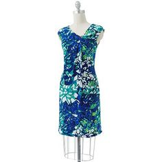 Dana Buchman Floral Embellished Shift Dress can't pass up that color!