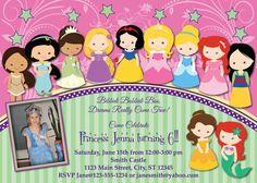 Toddler Princess Birthday Invitation MellysHandmades on Etsy