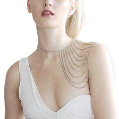 Quaste Halskette Kette Schulter Kette verbunden in einem Korper: Amazon.de: Schmuck
