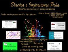 Diseños e Impresiones Peña elabora tarjetas de presentación exclusiva  y personalizada. Recuerda somo especializados en diseño digital y artesanía de papel. Diseños e Impresiones Peña dimpena Valparaíso, Chile