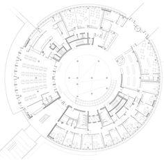 Gallery of Alesia Museum / Bernard Tschumi Architects - 12 Museum Architecture, School Architecture, Architecture Plan, The Plan, How To Plan, Koshino House, Parking Plan, Bernard Tschumi, Circular Buildings