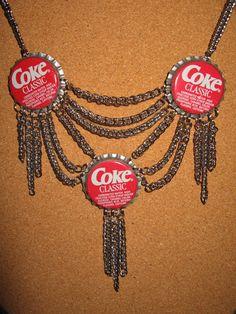 Confessions of a Teenage Drama Queen, Vintage replica Coca Cola Bottle Cap Necklace, Coke Soda Bottle Cap Jewelry, Bottle Cap Necklace, Bottle Cap Crafts, Bottle Caps, Teenage Drama, Vintage Coke, Biscuit, Drama Queens, Love Ring