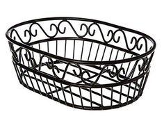 "Scroll Design Oval Metal Fruit Bowl/Bread Basket-Matte Black-9"" CAS http://www.amazon.com/dp/B00LI1KZWI/ref=cm_sw_r_pi_dp_oF8eub0A2DGQY"