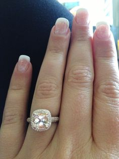 rose gold engagement ring. <3 I love how the champagne diamond is surrounded by the white diamonds
