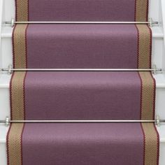 Designers and Makers of unique stripe runners, rugs and fabrics in natural fibres. Simply Luxury for Modern Living Staircase Runner, Stair Runners, Lets Stay Home, Carpet Stairs, Pantone Color, Mauve, Bright, Rugs, Archive