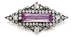 pink topaz and diamond pendant - from the 1870s.
