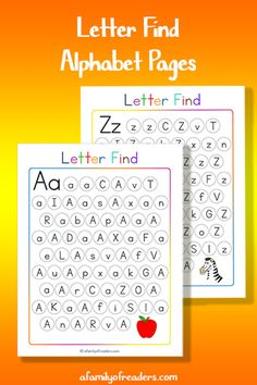 These free Find the Letter Alphabet Pages are a great way to make ABC Learning for kids easy and fun.
