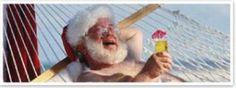 Even Santa takes the time to enjoy the beautiful beaches of Charleston!