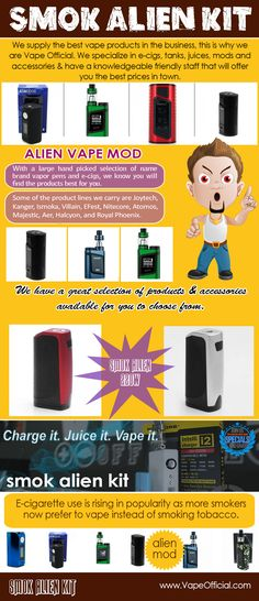 The Alien box mod is built with firmware upgrade capability.  This can be done either via the easy wireless firmware upgrade that uses over-the-air technology to update the operating system. There's also a smart app that utilizes Bluetooth so you can change the box mod's settings and more from your phone or tablet. Smok Tfv14 Baby Tank brings the same performance of the TFV8 Cloud Beast Tank into a smaller form factor.