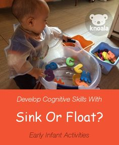 #Knoala Early Infant activity 'Sink Or Float?' helps little ones develop Cognitive and Language skills. Click for simple instructions
