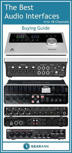 Detailed Guide to The Best Audio Interfaces - 4 to 18 Channels.  In addition to providing a recommended list of interfaces that have been highly rated by the music community this guide explains topics such as Inputs and Channels, Mic Level, Instrument Level and Line Level Inputs, Preamps and Phantom Power, and Analog to Digital Bit Rate and Sample Rate.