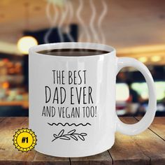 VEGAN DAD Mug Vegan Dad Gift For Birthday Gifts Coffee Funny From Daughter Father Day Custom