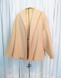 Vintage Pink Wool Swing Coat by FairSails on Etsy